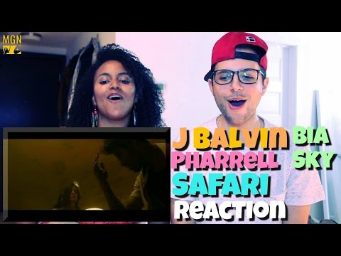 J Balvin - Safari (ft. Pharrell Williams, BIA, Sky) Reaction