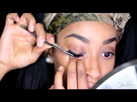 HOW TO APPLY FALSE LASHES FOR BEGINNERS QUICK AND SIMPLE  BEAUTY BASICS