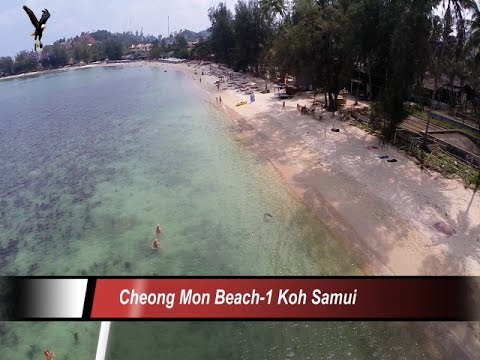 Cheong Mon-1 Beach / Koh Samui Thailand overflown with my drone
