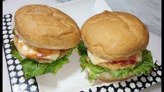 CHICKEN BURGER RECIPE | CHICKEN CHEESE BURGER | Tasty & Easy BURGER