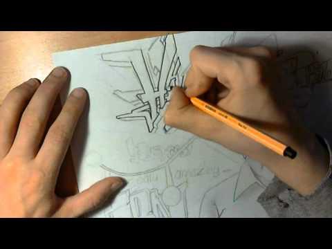lets draw graffiti - higgs boson cern (part 2/5) #005