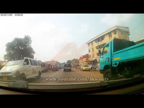CHRISTMAS DRIVING THROUGH ASHANTI REGION  -  KUMASI - GO PRO 4K