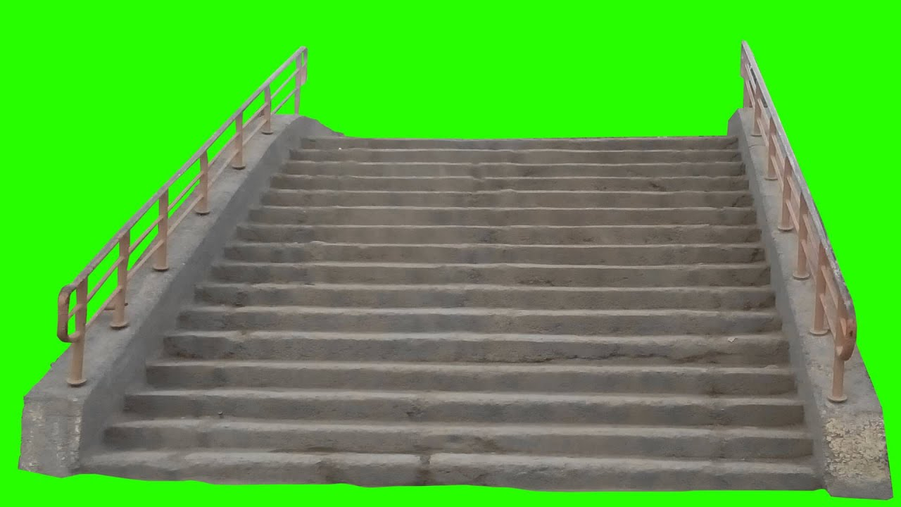 Public Stairs In Green Screen Free Stock Footage - Year of
