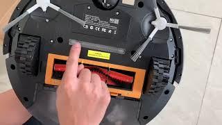 Cách khởi động Robot hút bụi lau nhà Kuchen