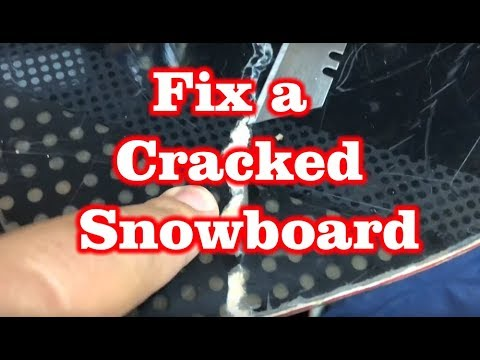 How to Fix a Snowboard Crack using Epoxy