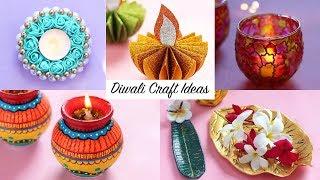 6 Easy DIY Diwali Decoration Ideas | Last minute Diwali Home Decor Ideas