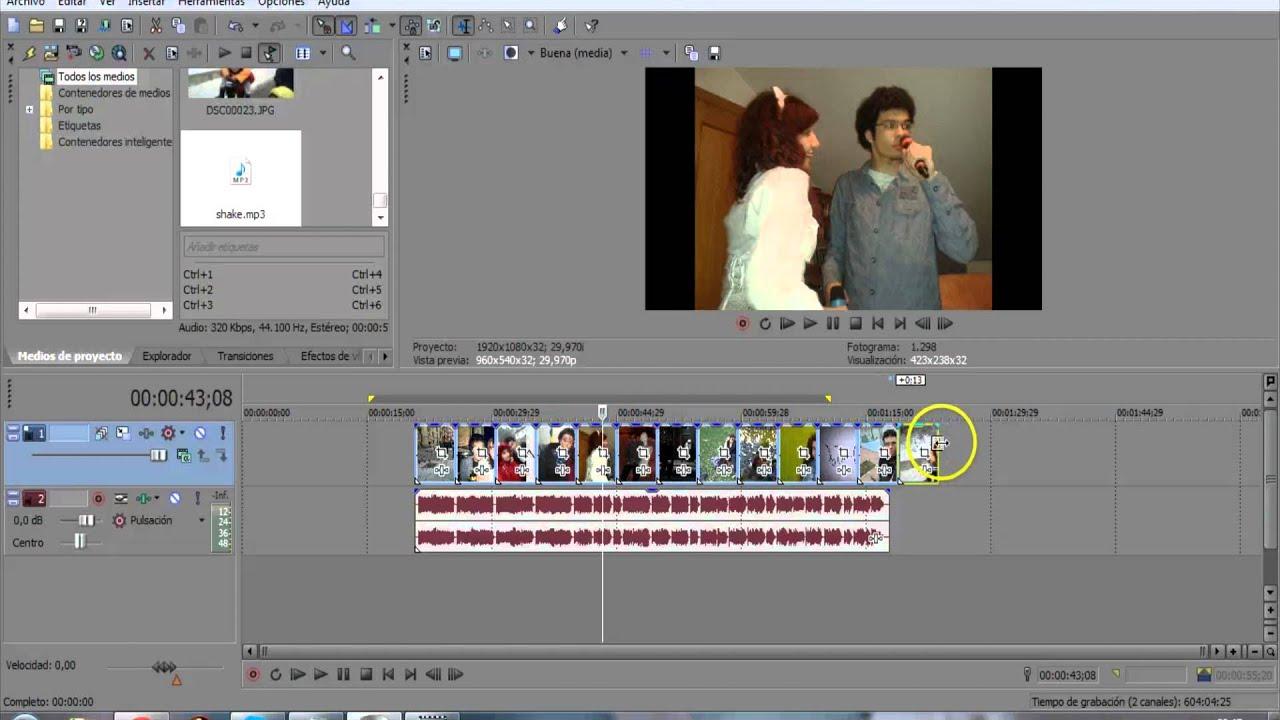 Cambiando duración a conjunto de imágenes en Sony Vegas. - YouTube