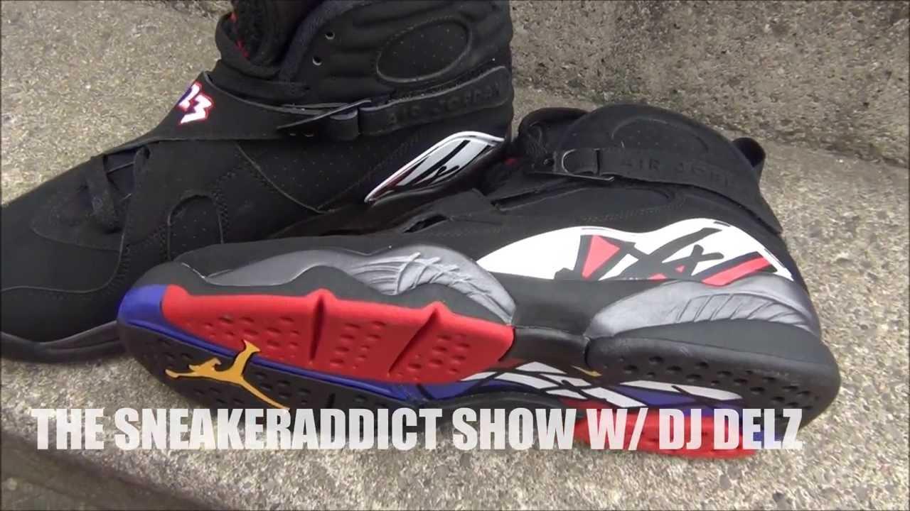 Mens Air Jordan 8 VIII) Retro Black Red shoes