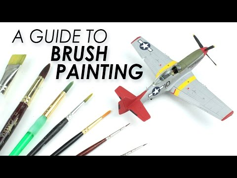 How to Brush Paint Scale Models - YouTube