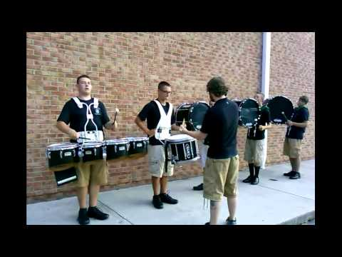 North Greene High School Percussion Practice session