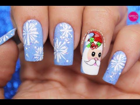 Diseño de uñas Papa Noel ♥ Deko Uñas - Santa Claus Nail art