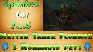 Master Tamer Flummox 3 Humanoid Pets Strategy Pet Battle Murloc, Harpies, and Wolvar, Oh My!