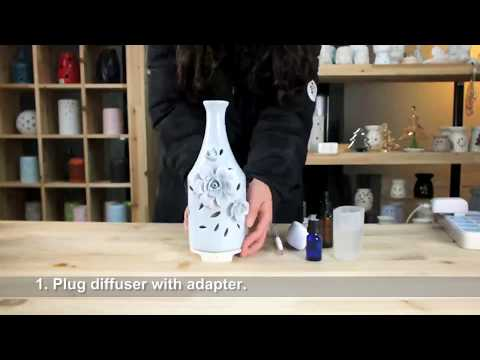 Operation Aroma Diffuser –  – Porcelain Handy Flower