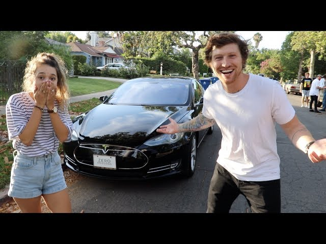 SURPRISING MY GIRLFRIEND WITH A NEW TESLA!!