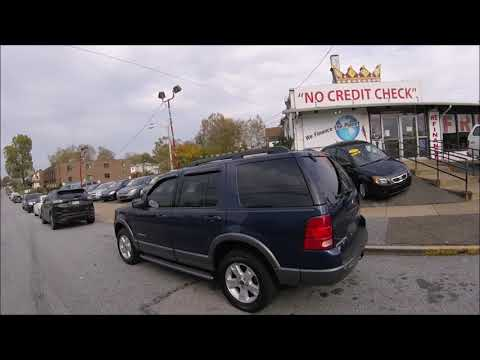 2005 Blue /Gray Ford Explorer XLT 4.0L 4WD (1FMDU73E25U) with an 4.0L V6 SOHC 16V engine, 5-Speed Automatic Overdrive transmission, located at 577 Chester Pike, Prospect Park, PA, 19076, (610) 237-1015, 39.886154, -75.302338 - Photo #0
