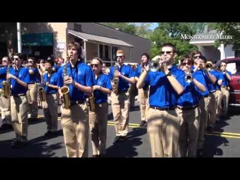 "The Council Rock High School North Marching Band performs ""Going Home"" during Memorial Day ceremonie"