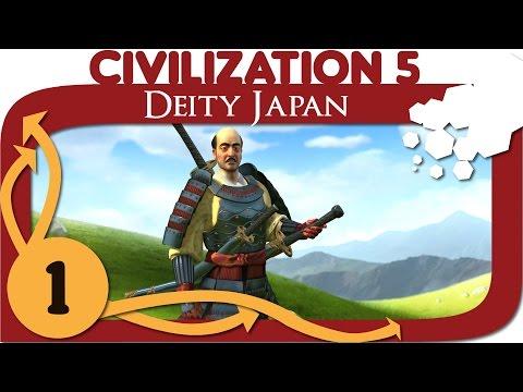 Civilization 5 - Ep. 1 - Let's Play Japan - Civ 5 Deity Gameplay