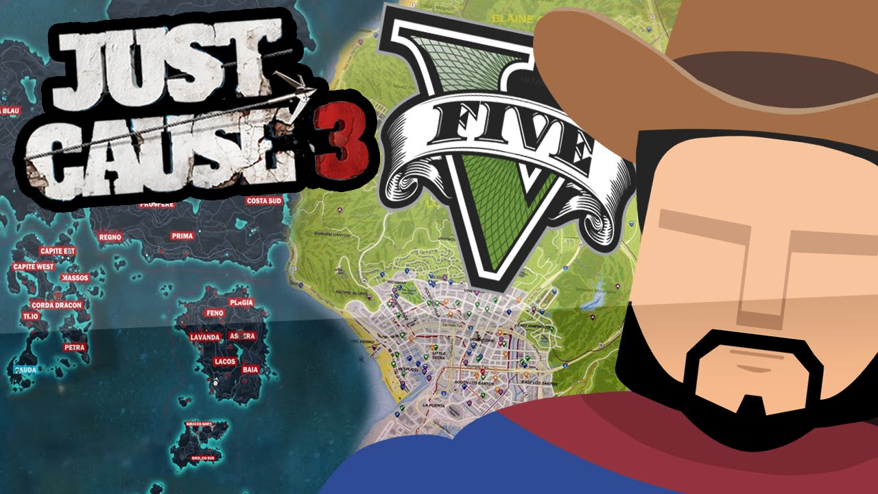 Just Cause 3 Map Vs GTA 5 Map (Side By Side Size Comparison) - YouTube