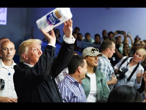 Trump Throws Paper Towels To Puerto Ricans