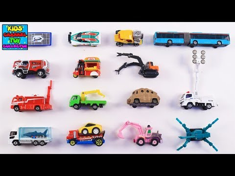Learn Special Vehicles with Takara Tomy Tomica Vehicles for Kids Children Toddlers Babies | Nursery