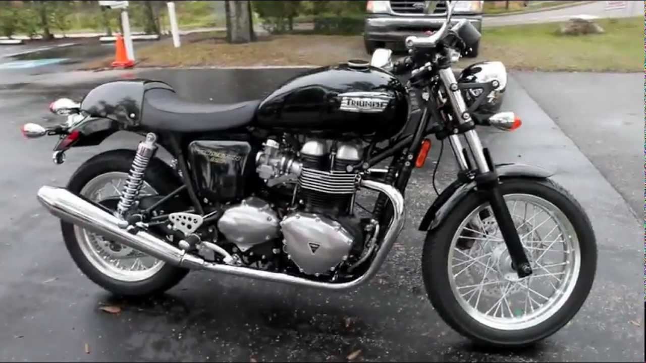 2013 Triumph Thruxton in Black at Euro Cycles of Tampa Bay Florida ...
