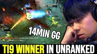 when You meets TI9 Winner in Unranked - ANA God No Mercy 7.22 Dota 2