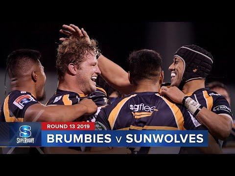 Brumbies v Sunwolves   Super Rugby 2019 Rd 13 Highlights