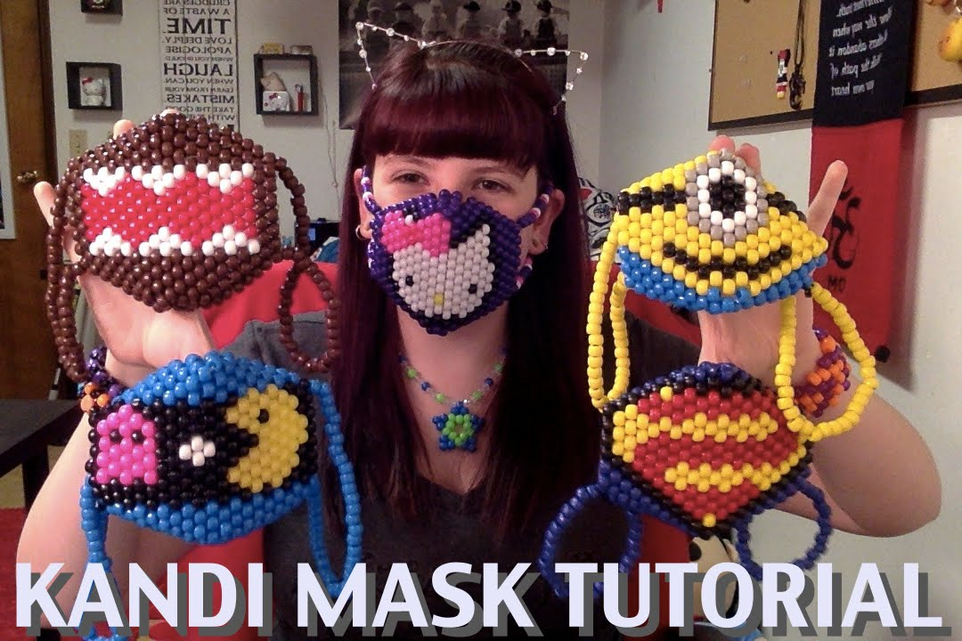 How To Make A Kandi Mask Tutorial YouTube Classy Kandi Mask Patterns