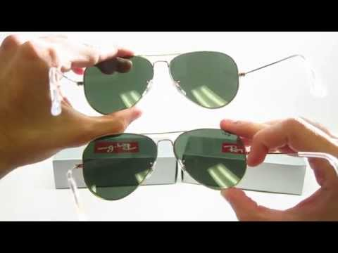 ray ban polarized sunglasses difference  difference comparison between ray ban rb 3025 & rb 3026 aviator sunglasses youtube
