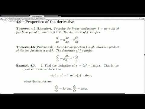 Derivative properties