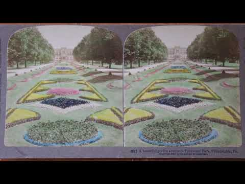 Antique 1902 Stereoscopic Photo in 3D Anaglyph Video (Fairmount Fields Park, Philadelphia)
