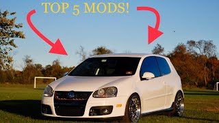 TOP 5 MUST DO mods for your MKV GTI!