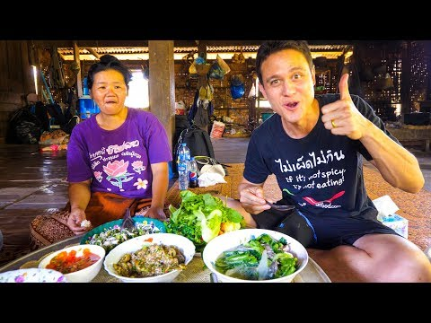 Laotian Food - STUNNING LAO FISH SALAD | Village Cooking in Laos!