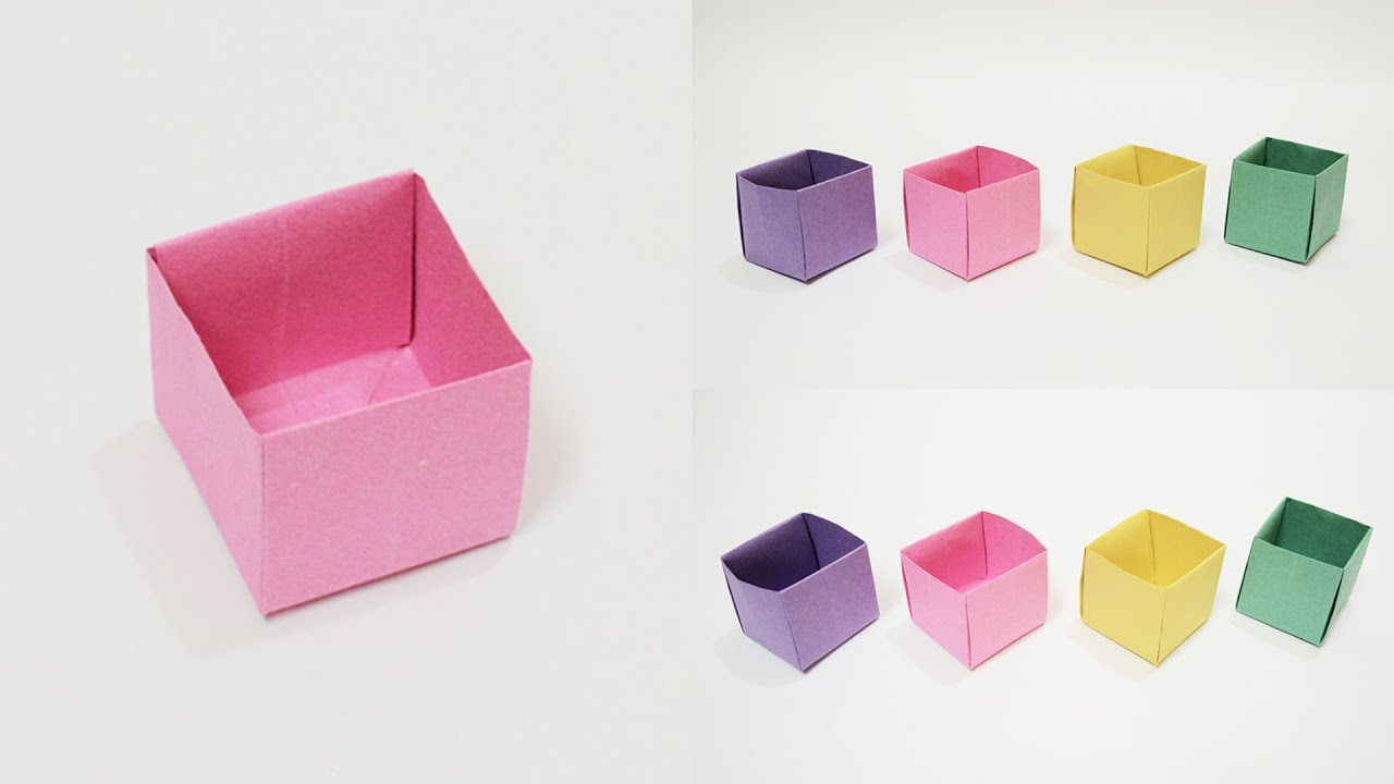 How to make a Paper Box (Easy) Origami Box - YouTube