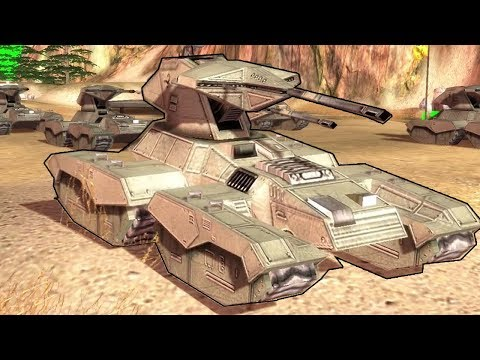 UNSC TANK ASSAULT Against COVENANT BASE - Halo Campaign Commander |Halo Empire at War|