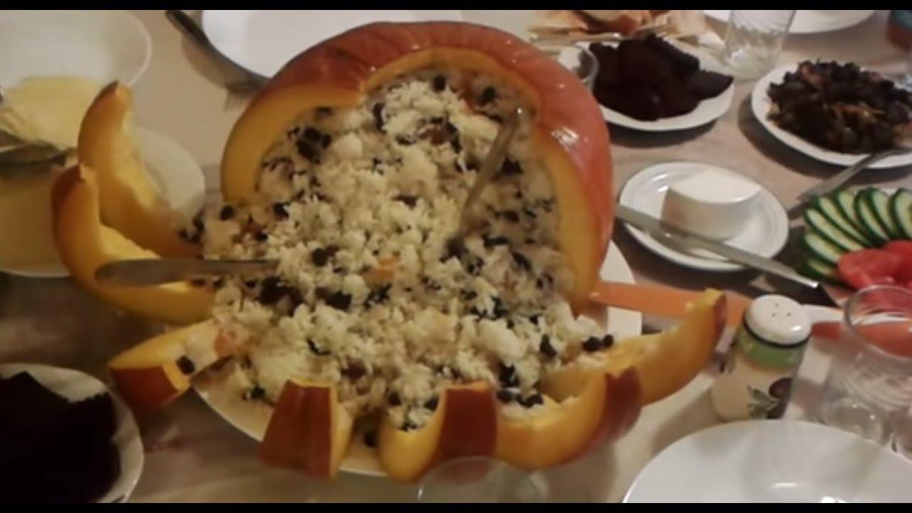 Armenian food ghapama armenian pumpkin dish with rice for Armenian cuisine