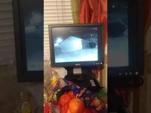 strange objects and weird electrical cloud on security cam.