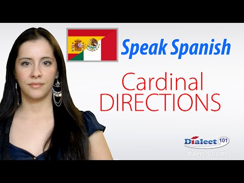 How to speak in Spanish - Cardinal Directions