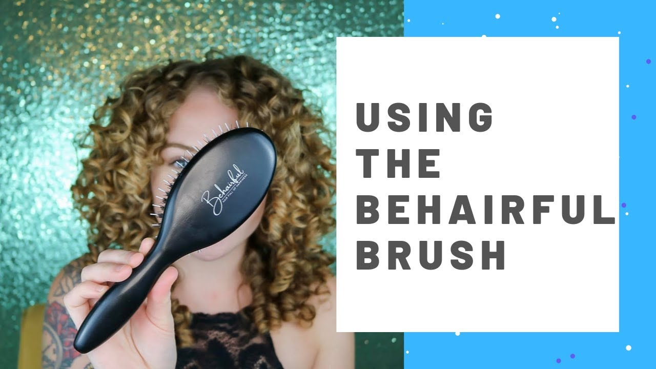 Curly Hair Care The Behairful Brush Youtube