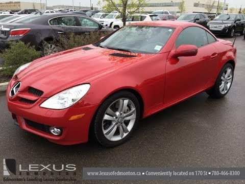 Pre Owned Red 2009 Mercedes-Benz SLK-Class 350 2dr Roadster HardTop Convertible
