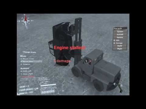 Forces / Lifting the Uaz by the front axle / Spintires