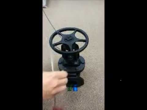 Fitting A Car Seal On A Gate Valve Youtube
