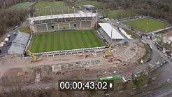 """Baustelle des Stadion """"Wildparkstadion""""  in Karlsruhe im Bundesland Baden-Württemberg, Deutschland"""