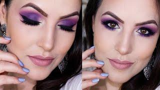 Maquiagem Colorida Fácil e Rápida usando Roxo