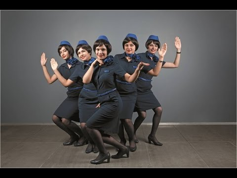 INDIAN AIR HOSTESS DANCING | INDIGO AIRLINES CABIN CREW