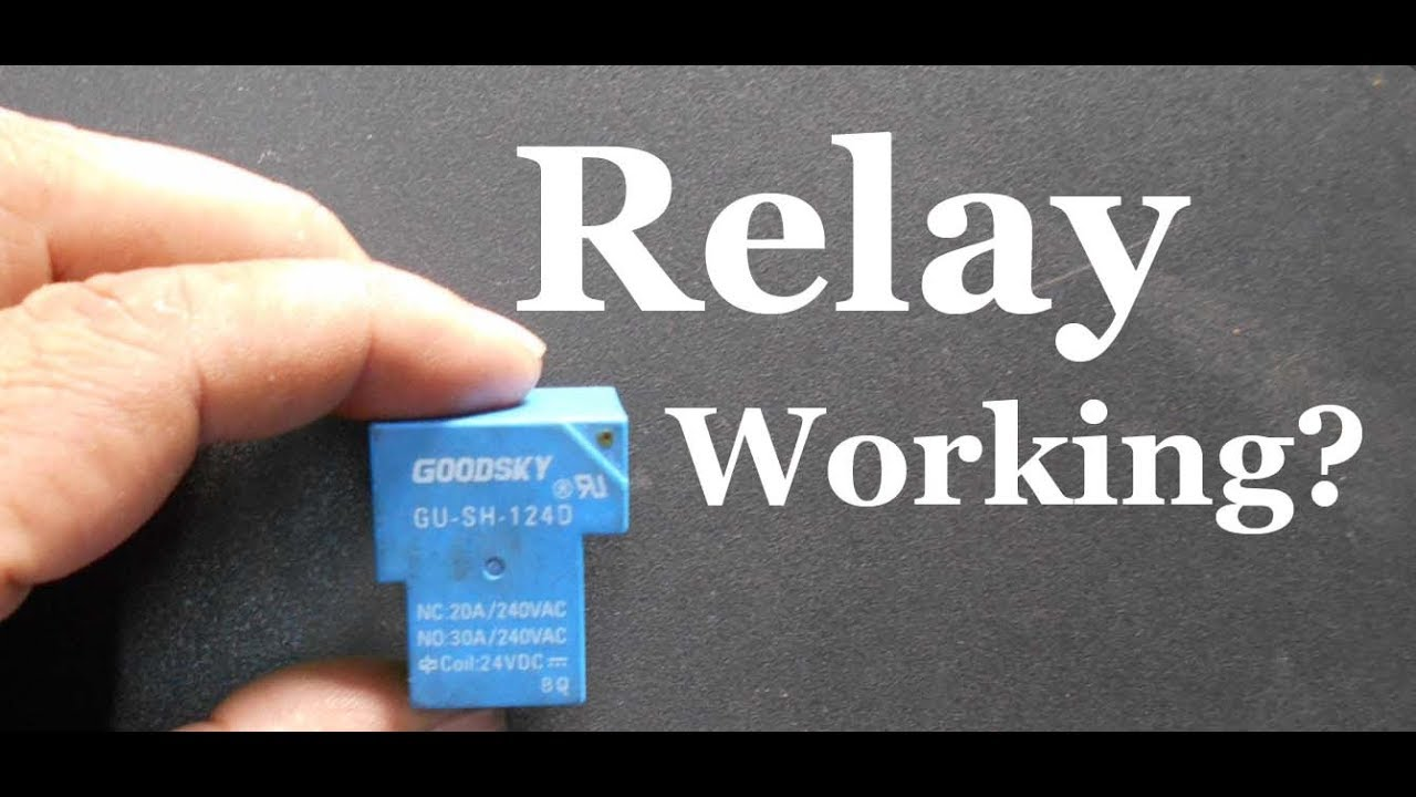 How To Make A Simple Relay Circuit Youtube