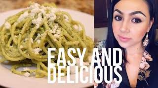 Cooking with Me: Highly Requested!!! Green Spaghetti