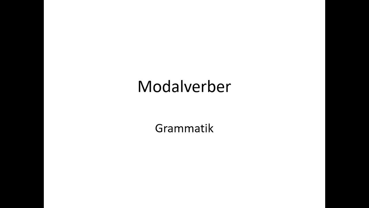 Modalverber på tysk