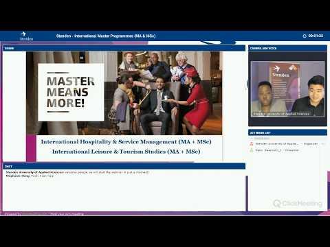 International Master Webinar - 30 May 2017