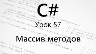 C#. Массив методов (массив делегатов). Урок 57